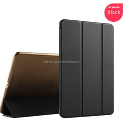 New fancy Magnetic high quality mix color 10''tri-fold Cover Leather tablet pc case for Ipad 5/apple Ipad air1