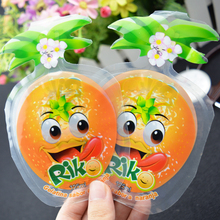 special shaped fresh fruit juice plastic bag / baby drinking packing pouches