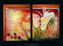 Beautiful Hand-painted wall Decoration flower oil Painting