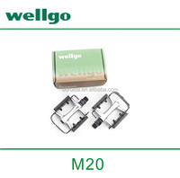 Wellgo Aluminum / Barrel silver Pedal with Quick Release Device