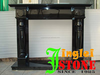 white cream beige UK ireland European design polished honed black granite fireplace