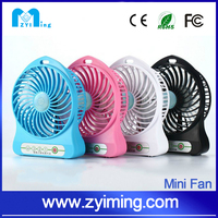 Zyiming hot selling summer mini fan YM-F18 usb fan use for power bank or computer