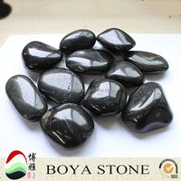 China Supplier High Quality polished black river rocks