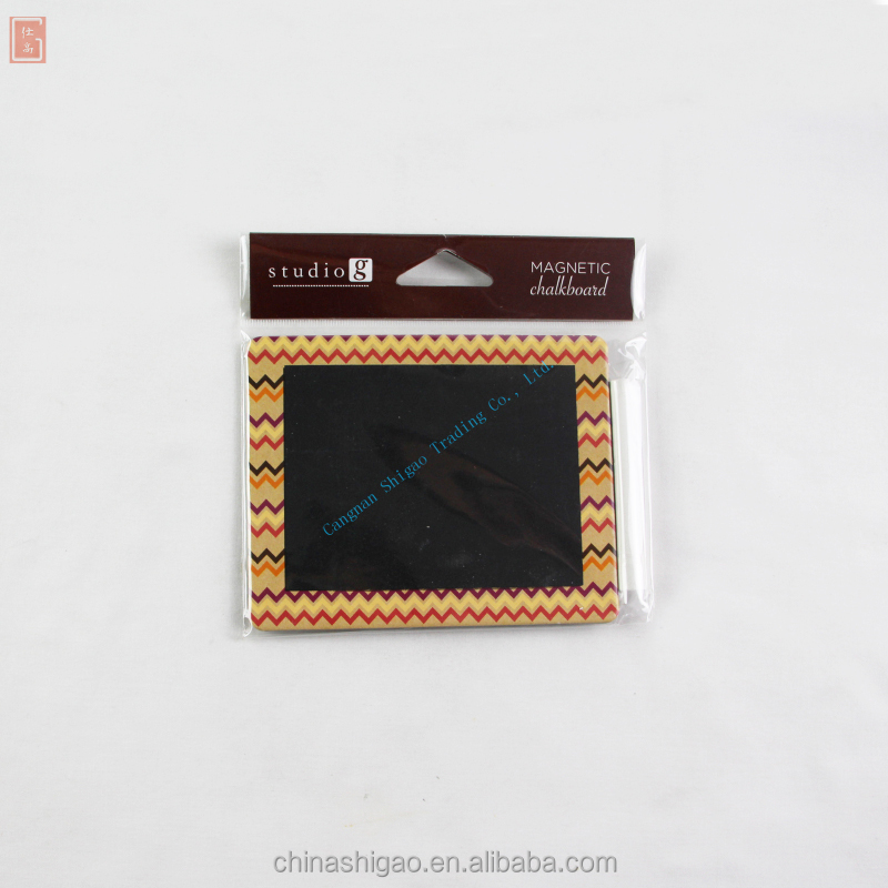 SG Series Cangnan Shigao custom Mini Size Memo Chalk Board with magnetic stripe