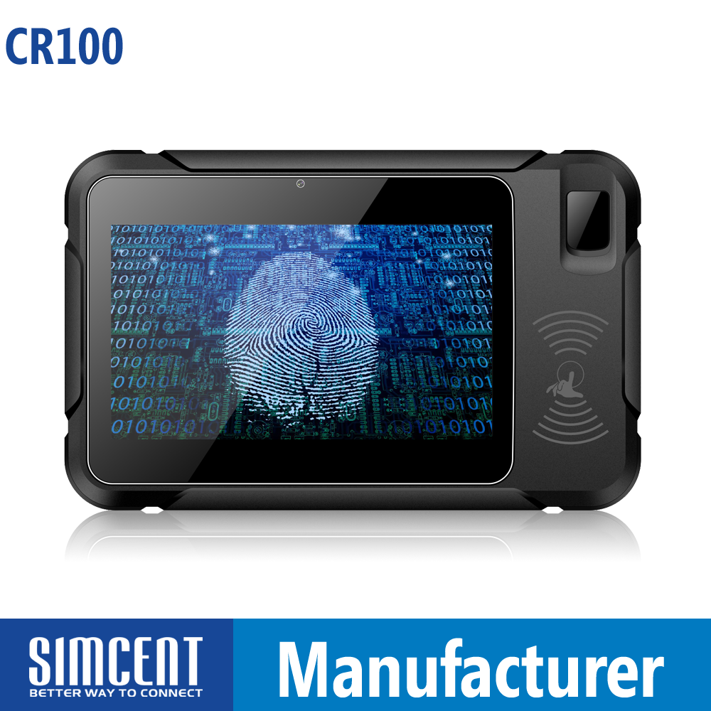 touch screen handheld biometric fingerprint terminal