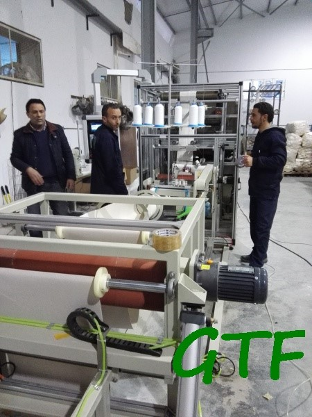 automatic dust filter bag production line machine