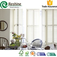 PVC white Painted Sliding Interior Window Shutters
