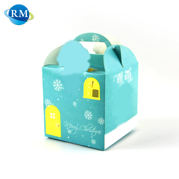 Rongmei Hight Quality Products Blue Small Gift Paper Packaging Box