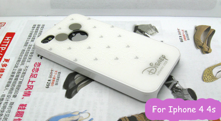 Wholesale case for iphone 4 4s/PVC baking varnish case for Apple 4 4s/lovly carton cases for Iphone