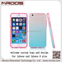 2014 new products beautiful design eco tpu and pc combo for iphone 6 plus printing case color change prevention