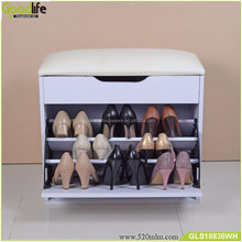 Foshan factory wholesale good quality wooden shoe rack bench with PU sofa