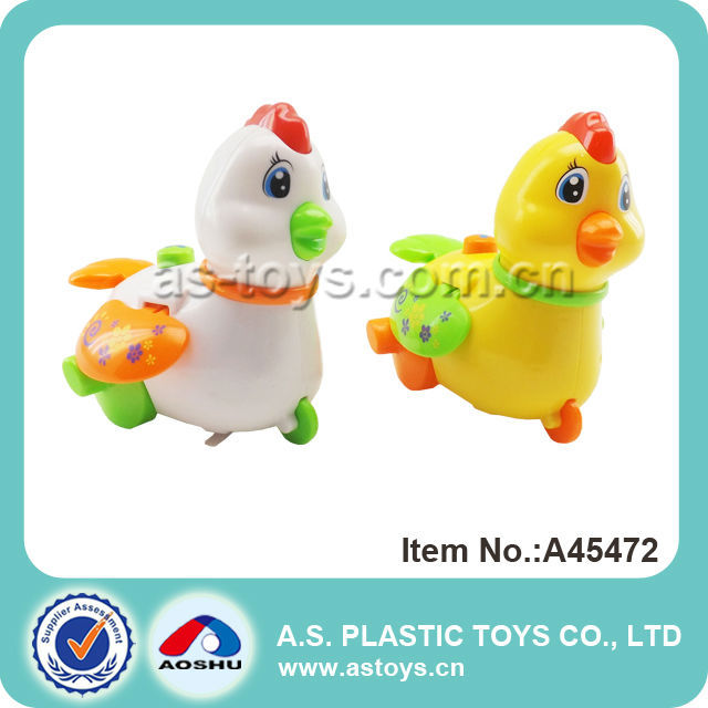2PCS Baby wind up yellow chicken toy