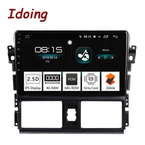 "Idoing 10.2""4G+64G 2.5D Octa Core 1 Din Car Radio Android 8.0 Multimedia Player Fit Toyota Vios 2013-2016 GPS Navigation Glonass"