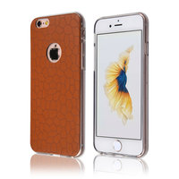 C&T Premium Leather Texture Flexible Soft TPU Shock Absorbent Slim Case for iPhone 6 and iPhone 6s