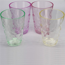 Hot sale diamond surface Clear Plastic cup, 13oz drinkware type juice cup from Shenzhen
