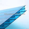 triple wall layer polycarbonate sheet plastic pc hollow sheets as roofing