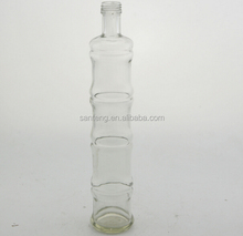 clear rounded 3360ml glass drink juice bottle