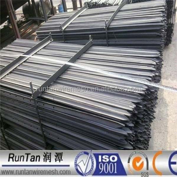 ISO9001 Australia standard black bitum or hot dipped galvanized y shaped fence post/galvanised post