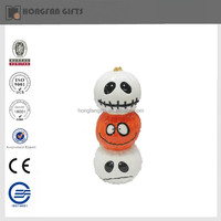 smile face stacking ceramic pumpkin craft