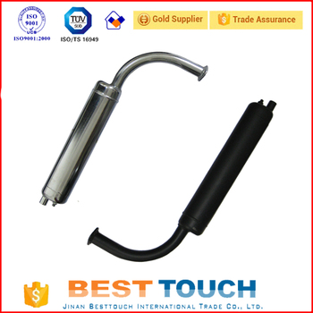 Silver and black 80cc engine motorized bike Standard Black Exhaust Muffler with high quality