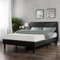 Double Size Handsome Comfortable PU Leather Bed