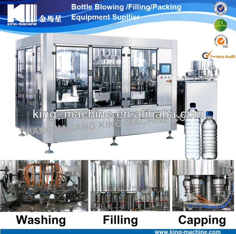 Automatic PET bottle drinking water bottling plant/mineral water filling machine