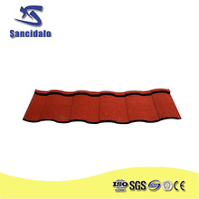 Sancidalo 0.40mm colorful stone coated steel roofing tile for European style houses roofing