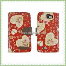 Hot Sale!!!Magnetic Leather Flip Case Cover For SAMSUNG Galaxy Note 2 N7100