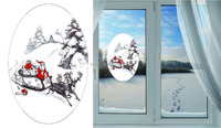 Static Cling Glass Window Christmas Decoration Sticker Printing