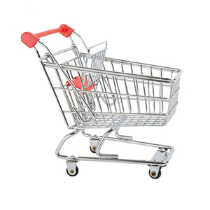 Grocery Shopping Cart Small Foot Metal Dolls Toys Supermarket Shopping Cart Trolley With Wheels