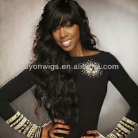 wholesale top quality in stock 100% 16 inch human hair full lace wig