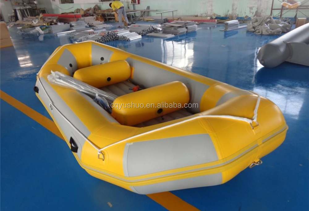 Marine 0.9mm PVC and rubber material used inflatable rescue high speed boat for sale