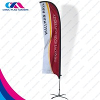 digital print wind promotion blade polyester fabric flag