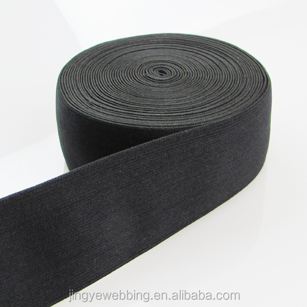 42mm black polyester boxer waistband soft elastic band
