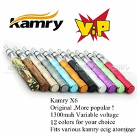 Kamry In Stock Vaporizer Pen X6 E cigarette best Starter Kit 3.6-4.2V VV Mod 12 colors for you