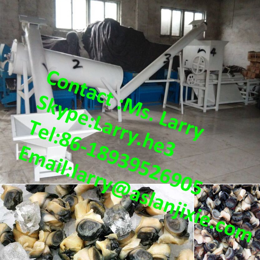 river snails deshelling machine/river snails meat and shell separating machine