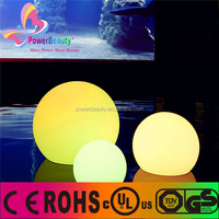 20-60cm Magic Outdoor led glow swimming pool ball with 16 colors,battery led light balls
