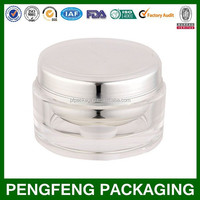 Cosmetic round container acrylic cream jar 5/10/15/30/50/100/200 g