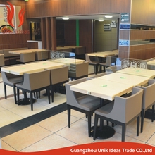 Customize Commercial furniture used restaurant table and chair