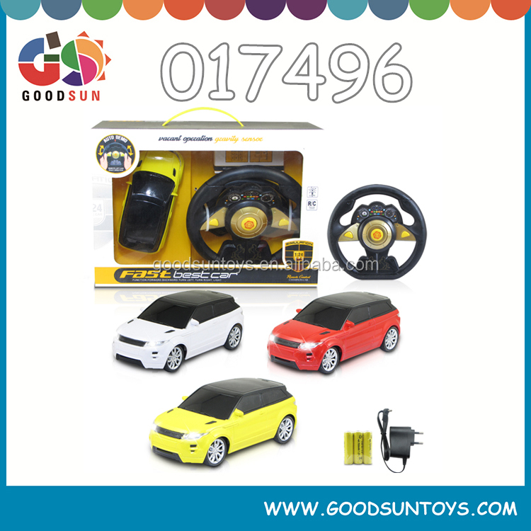 1 24 4 Ch top speed radio control cars with steering wheel rechargeable toy remote control toy battery power rc toy 017496