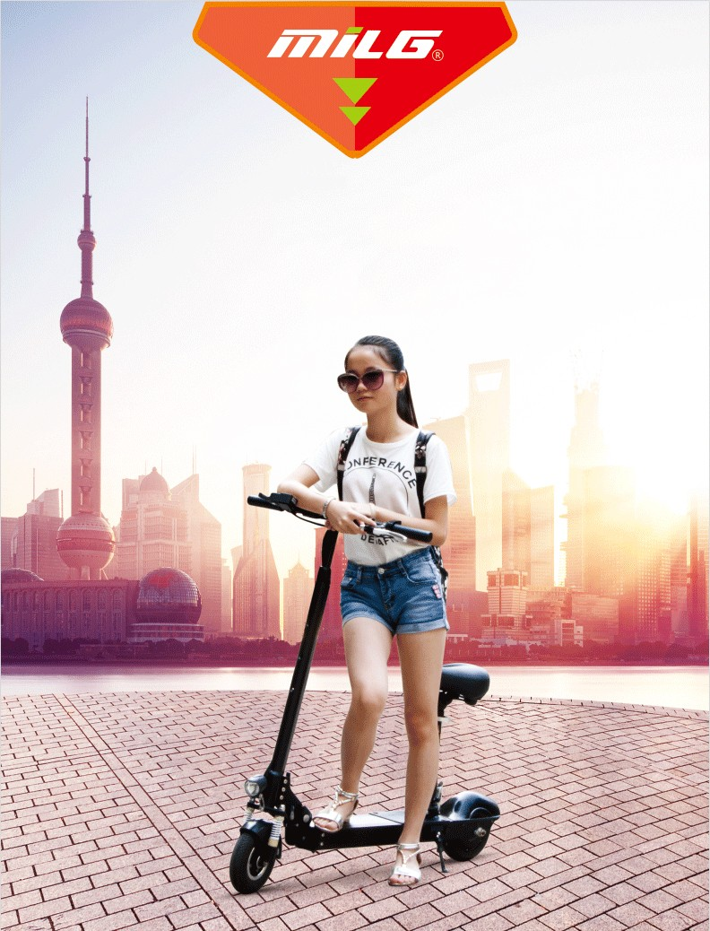 Kids ride hot 36V/10ah hiding lithium battery self balance electric scooter with 300W hub motor H4-MILG