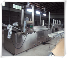 cheap Coal combustion heating automatic meet beef pork fish balls frying production line