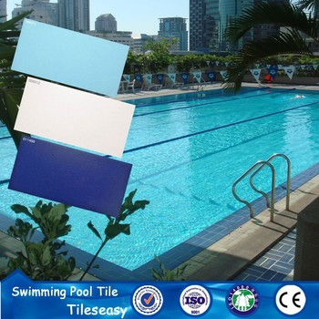 sky blue ceramic wall tile antislip swimming pool tile san diego
