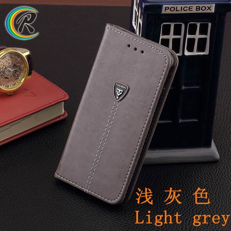 High quality PU Leather Wallet Case for iPhone 5 5s se flip cover with credit card slot