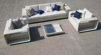 Home & garden Wicker rattan living room furniture and KD rattan garden sofa set