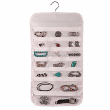 Top manufacturer convenient non woven fabic hanging wall jewelry organizer