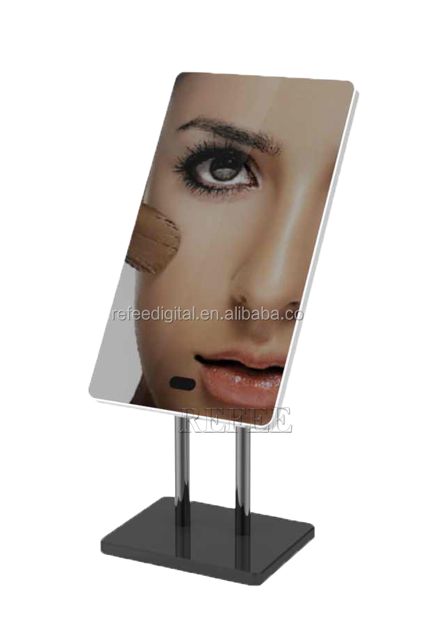 Refee OEM/ODM super thin 13.3inch table stand magic mirror with motion sensor