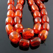 Amber Smooth Barrel Shape Beads Strand, Natural Gemstone Beads Strands, Semi Precious & Precious Stone Loose Beads