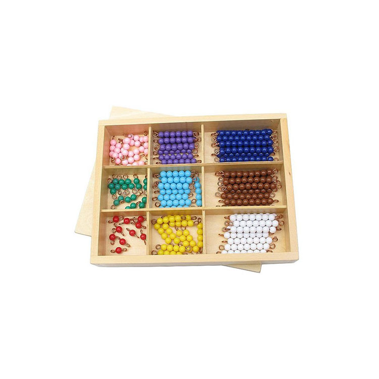 Competitive Price early learning item wooden montessori Checker Board Beads