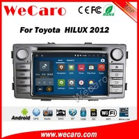 Wecaro WC-TH6230 android 5.1.1 car radio navigation for toyota hilux 2012 2013 2014 car dvd android multimedia WIFI 3G Playstore